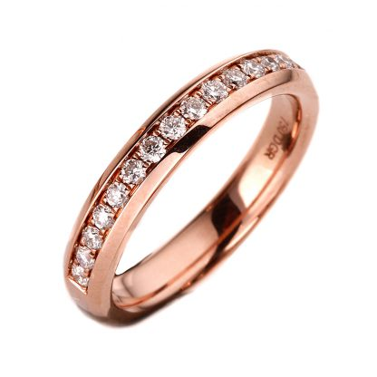 18 kt red gold eternity half with 11 diamonds 1A027R857-1