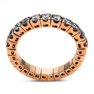 18 kt red gold eternity half with 11 diamonds 1N754R853-7