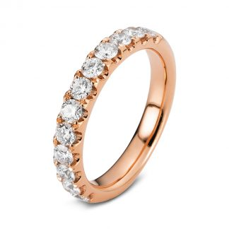 18 kt red gold eternity half with 12 diamonds 1B761R854-1