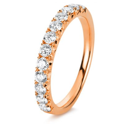 18 kt red gold eternity half with 12 diamonds 1D451R853-2