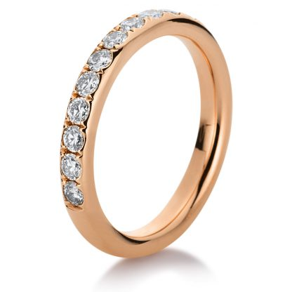 18 kt red gold eternity half with 13 diamonds 1C382R854-5