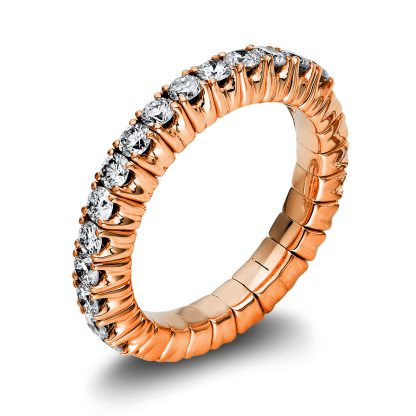 18 kt red gold eternity half with 15 diamonds 1M248R853-2