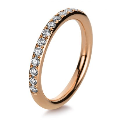 18 kt red gold eternity half with 16 diamonds 1B815R853-1