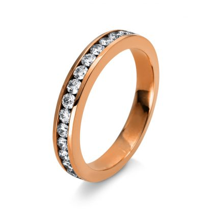 18 kt red gold eternity half with 16 diamonds 1M951R853-1