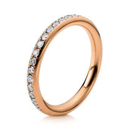 18 kt red gold eternity half with 17 diamonds 1B817R853-1