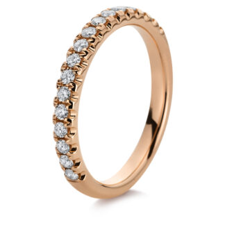 18 kt red gold eternity half with 17 diamonds 1B833R854-1