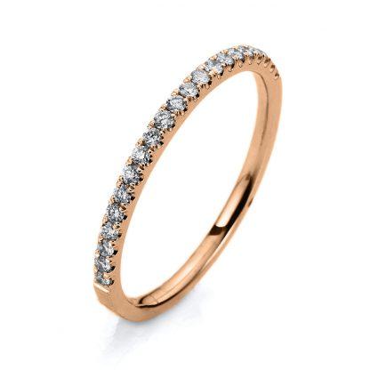 18 kt red gold eternity half with 21 diamonds 1B391R853-1