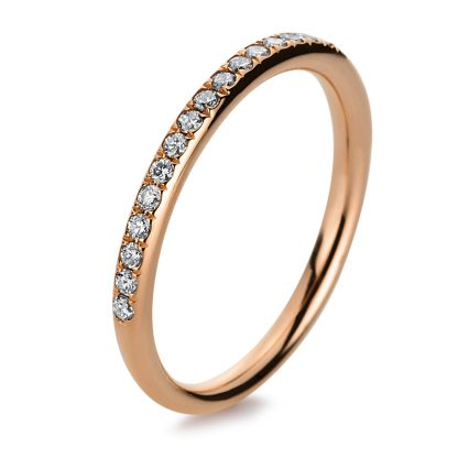 18 kt red gold eternity half with 21 diamonds 1B818R853-4