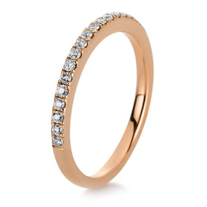 18 kt red gold eternity half with 21 diamonds 1C366R854-2