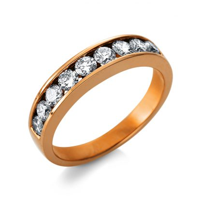 18 kt red gold eternity half with 9 diamonds 1T471R853-1