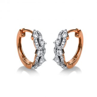 18 kt red gold hoops & huggies with 50 diamonds 2G602R8-1