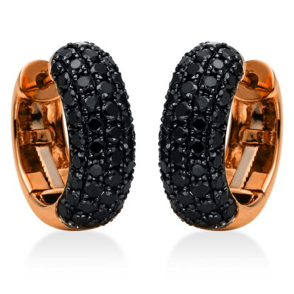 18 kt red gold hoops & huggies with 98 diamonds 2E554R8-1