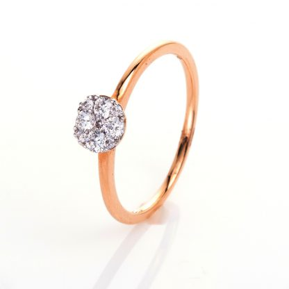 18 kt red gold illusion with 9 diamonds 1A496R851-1
