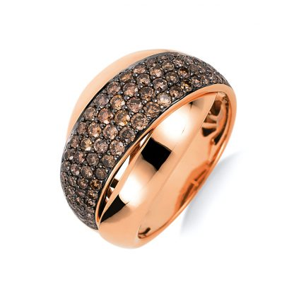 18 kt red gold illusion with 92 diamonds 1B977R854-1