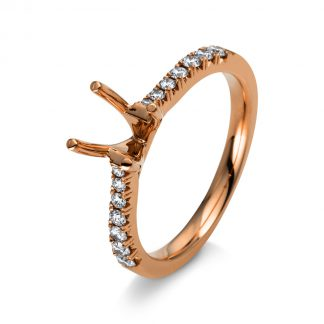 18 kt red gold mounting with 14 diamonds 1B214R853-2