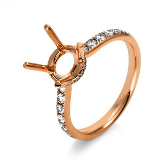 18 kt red gold mounting with 30 diamonds 1O815R853-2