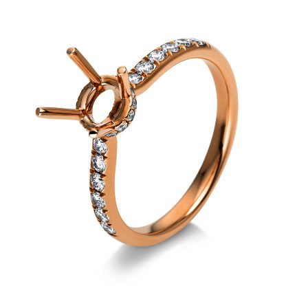 18 kt red gold mounting with 32 diamonds 1S624R853-1