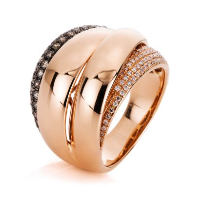18 kt red gold multi stone with 118 diamonds 1A659R854-3