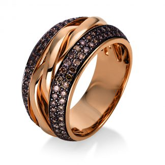18 kt red gold multi stone with 146 diamonds 1P118R855-1