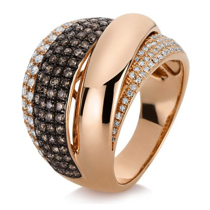 18 kt red gold multi stone with 203 diamonds 1C897R854-1
