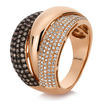18 kt red gold multi stone with 235 diamonds 1C895R8545-3