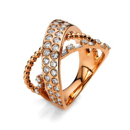 18 kt red gold multi stone with 51 diamonds 1B583R853-1