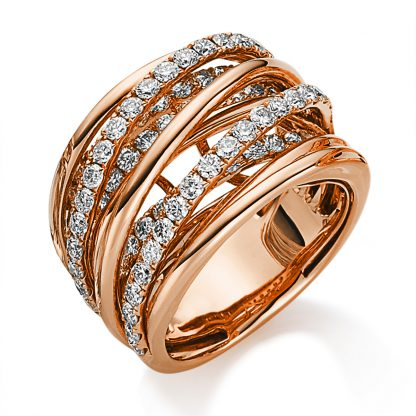18 kt red gold multi stone with 79 diamonds 1B386R854-4