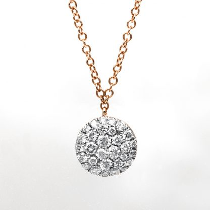 18 kt red gold necklace with 30 diamonds 4B188R8-2