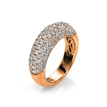 18 kt red gold pavé with 107 diamonds 1A594R853-9