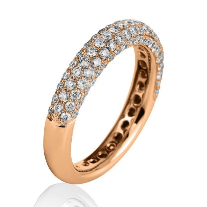 18 kt red gold pavé with 107 diamonds 1B776R855-1