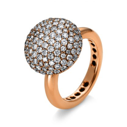 18 kt red gold pavé with 109 diamonds 1N371R858-1