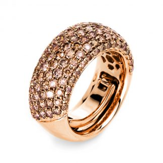 18 kt red gold pavé with 119 diamonds 1L147R853-1