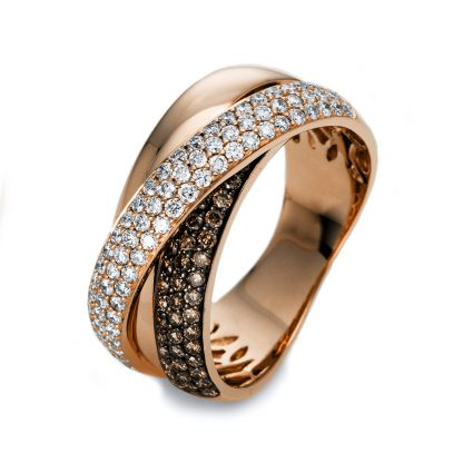18 kt red gold pavé with 122 diamonds 1O526R855-1