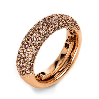 18 kt red gold pavé with 133 diamonds 1L145R854-7