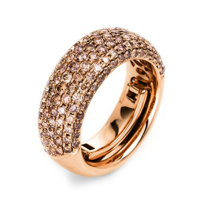 18 kt red gold pavé with 133 diamonds 1L146R854-2