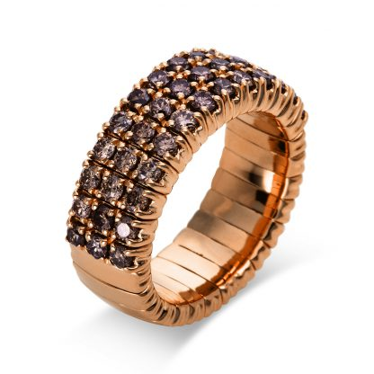 18 kt red gold pavé with 39 diamonds 1N664R854-1