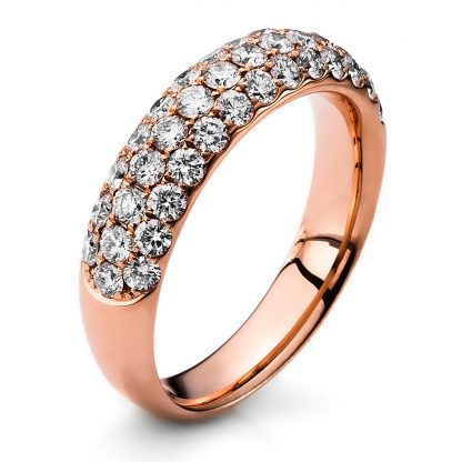 18 kt red gold pavé with 40 diamonds 1B792R854-2
