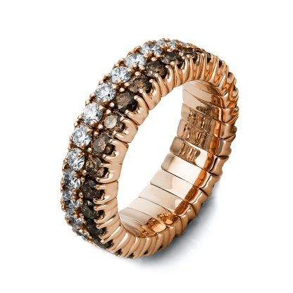 18 kt red gold pavé with 56 diamonds 1N719R853-6