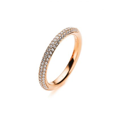 18 kt red gold pavé with 82 diamonds 1A380R854-2
