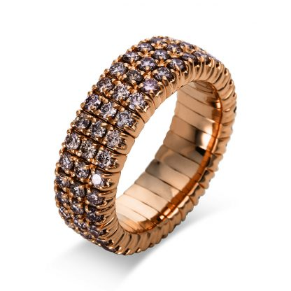 18 kt red gold pavé with 93 diamonds 1N663R854-3