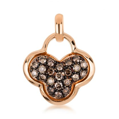 18 kt red gold pendant with 22 diamonds 3A465R8-1