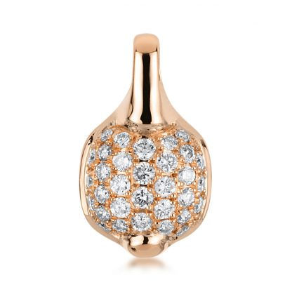 18 kt red gold pendant with 32 diamonds 3A469R8-1