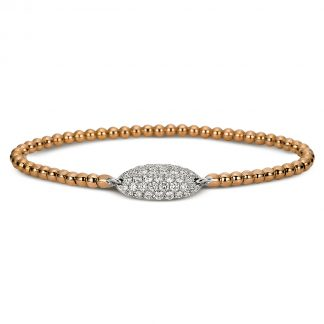 18 kt red gold / white gold bracelet with 37 diamonds 5A018RW8-1