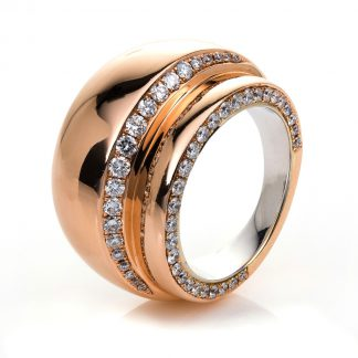 18 kt red gold / white gold eternity full with 81 diamonds 1F053RW854-1