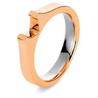 18 kt red gold / white gold mounting  1A559RW854-1