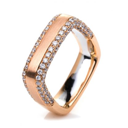 18 kt red gold / white gold multi stone with 138 diamonds 1C405RW852-1