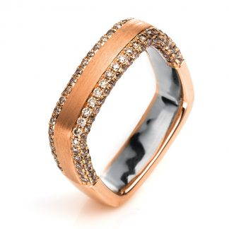 18 kt red gold / white gold multi stone with 143 diamonds 1H345RW856-1