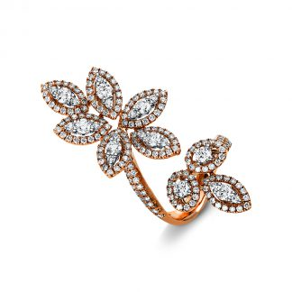 18 kt red gold / white gold multi stone with 199 diamonds 1R269RW853-1