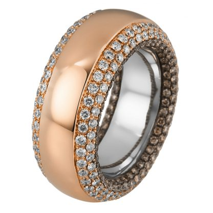 18 kt red gold / white gold multi stone with 344 diamonds 1C403RW856-1