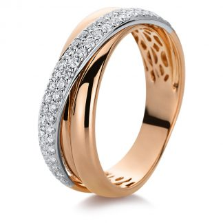 18 kt red gold / white gold pavé with 49 diamonds 1B993RW852-1